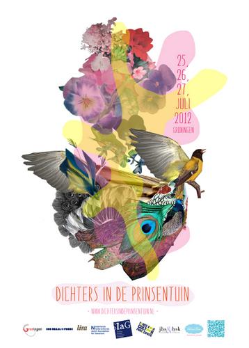 Poster Dichters in de Prinsentuin 2012 - Helemaalkim      illustratie  ontwerp