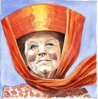 Siegfried Woldhek Koningin Beatrix tekening 2012