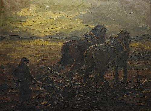 Ploegende Paarden Anton Heyboer