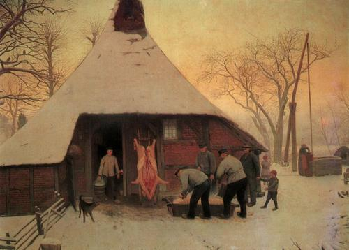 Schweineslachten Bernhard Winter