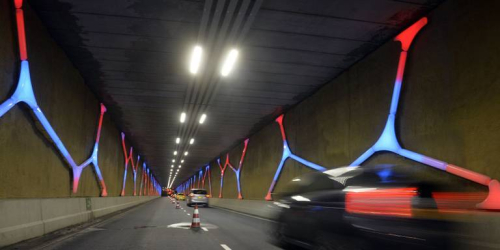 Lichtkunstwerk Hondsrugtunnel Emmen
