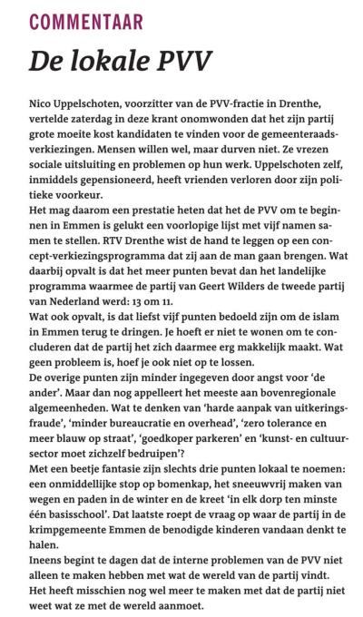 De lokale PVV