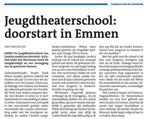 Doorstart Jeugdtheaterschool