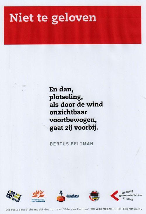 Niet te geloven Bertus Beltman