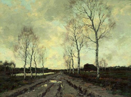 Landweg in Drenthe (1900)  Arnold Marc Gorter
