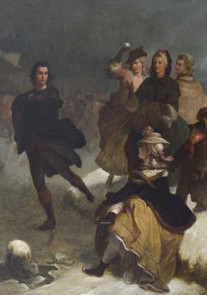 Goethe als schaatsenrijder