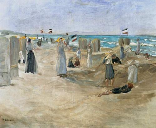 Op het strand van Noordwijk (1908) Max Liebermann