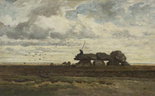 Het hunebed bij Tynaarlo (1865) W. Roelofs