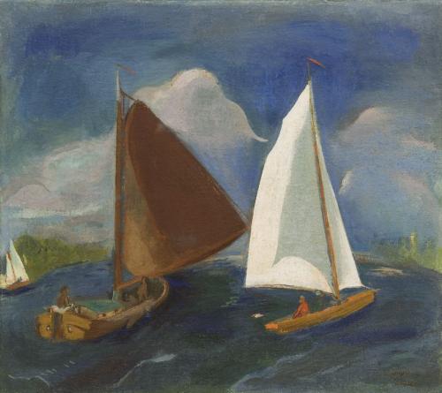 Zeilboten op het Paterswoldsemeer (1931) Jan Wiegers