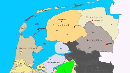 Noord-Nederland Kaart