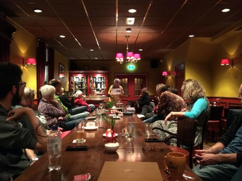 Marga Zwiggelaar in Cafe Hofsteenge Grolloo