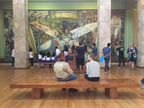 Muurschilderij Mexico 1