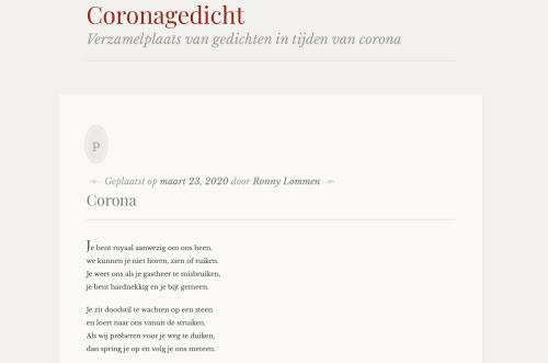 Coronagedicht