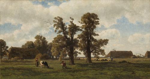 Een najaarsdag in Drenthe  1866  Alexander Mollinger