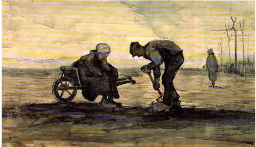 Aquarel Onkruidverbranders (1884) Collectie Museum Voorlinden