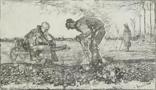 Litho Onkruidverbranders (1883) Vincent Van Gogh Collectie Van Gogh Museum