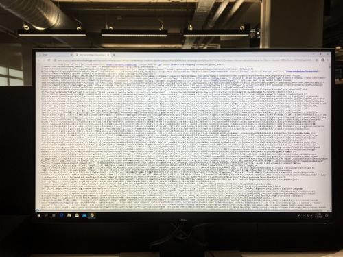 Computer says something