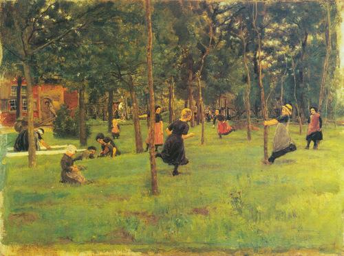Spielende Kinder (1882) Max Liebermann