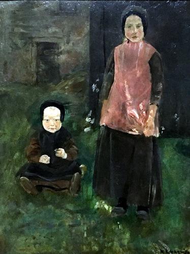 Hollandse Boerenkinderen (1882) Max Liebermann