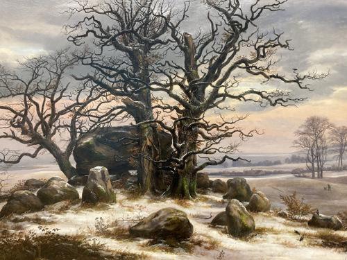 Hünengrab nahe Vordingborg im Winter (1825) Johan Christian Clausen Dahl-001
