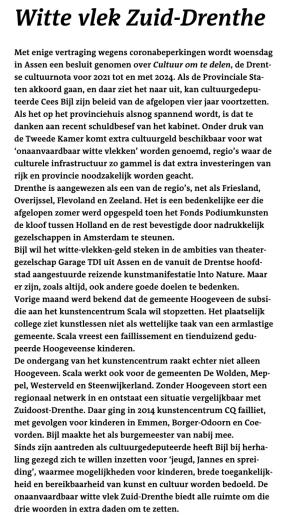 Witte vlek Zuid-Drenthe