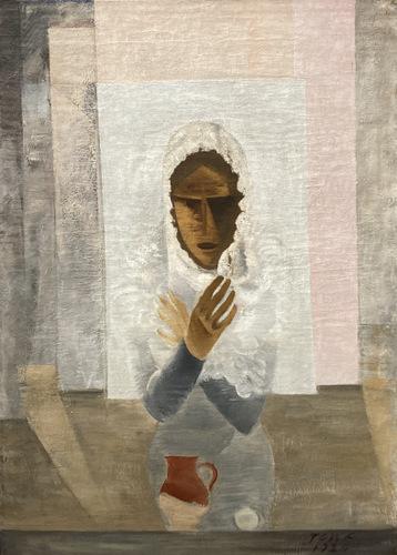 Vrouw in een witte doek (1920) Valdemars Tone